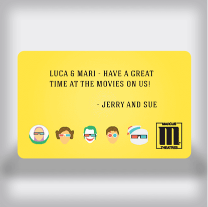 3D Character Custom Gift Card