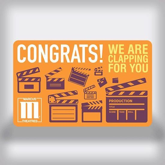 Picture of Congratulations Movie Gift Card - Clapboard Edition