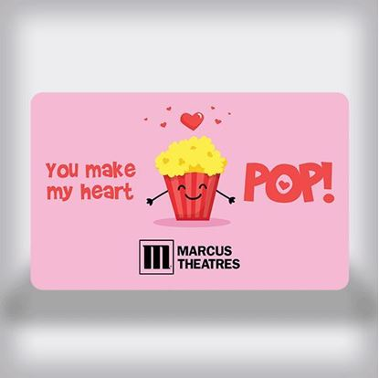 Picture of Date Night Movie Gift Card - You Make My Heart Pop Edition